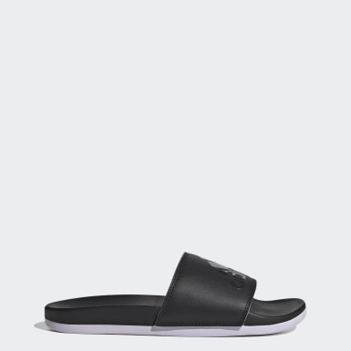 Women's Swim Black Adilette Comfort Slides