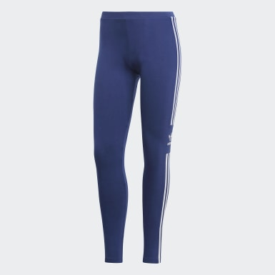 Women Originals Blue Trefoil Tights