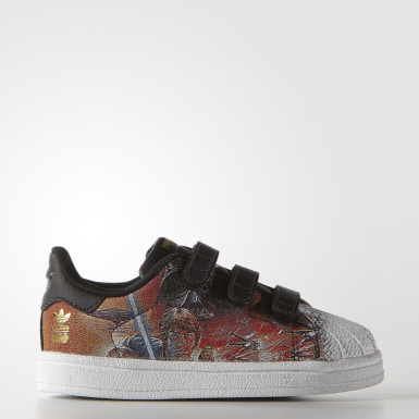 Barn Originals Svart Superstar Star Wars Shoes
