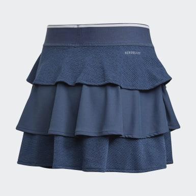 Dívky Tenis modrá Sukně Pop-Up