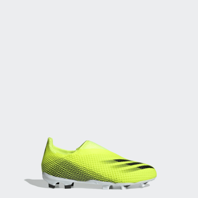 Calzado de Fútbol Sin Cordones X Ghosted.3 Terreno Firme Amarillo Niño Fútbol