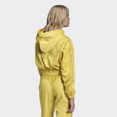 Women's Originals Yellow Hooded Track Top
