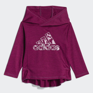 Infant & Toddler Training Burgundy Hooded Top Print Tights Set