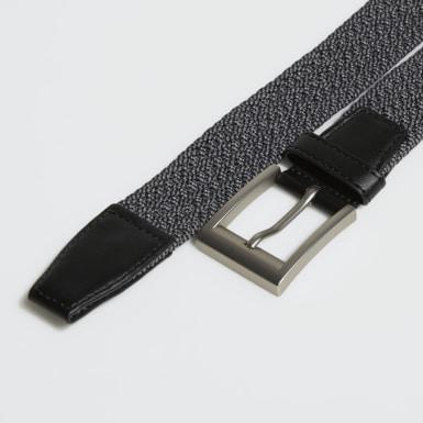 Men Golf Black Braided Stretch Belt