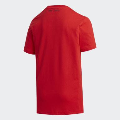 Genç Sport Inspired Kırmızı Pokémon Tişört