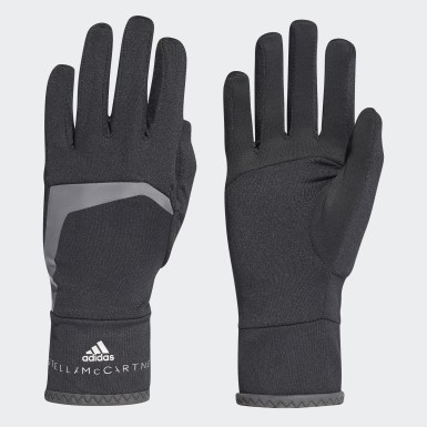 Women adidas by Stella McCartney Black COLD.RDY Run Gloves