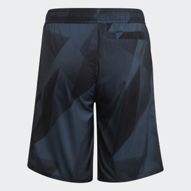 Boys Swimming Blue Boys Graphic Swim Shorts