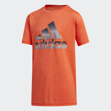 Youth Training Orange Pixel Tee