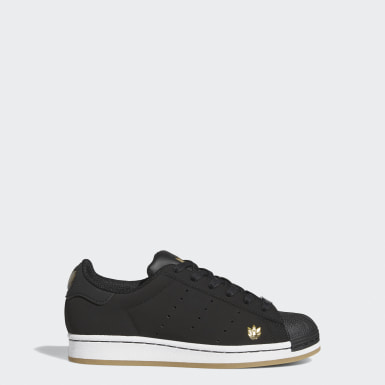 Youth Originals Black Superstar Pure Shoes