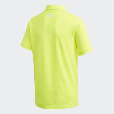 Polo 3-Stripes jaune Adolescents Golf