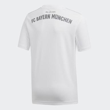 Boys Football White FC Bayern Away Jersey