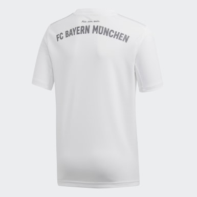 Jungen Fußball FC Bayern München Auswärtstrikot Weiß