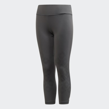 Youth 8-16 Years Yoga Grey Primeblue Believe This Leggings