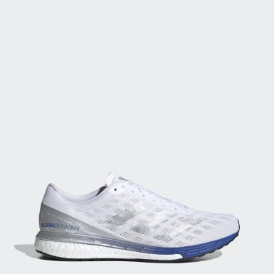 Men Running White Adizero Boston 9 Shoes