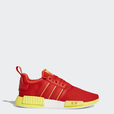 Men Originals Red NMD_R1 Beijing Shoes