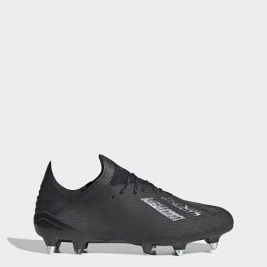 Bota de fútbol X 19.1 césped natural húmedo Negro Fútbol