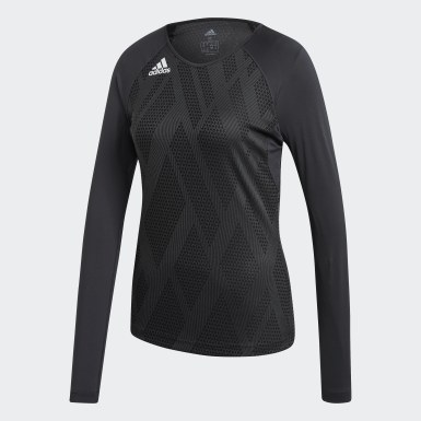 Women's Volleyball Black Quickset Jersey