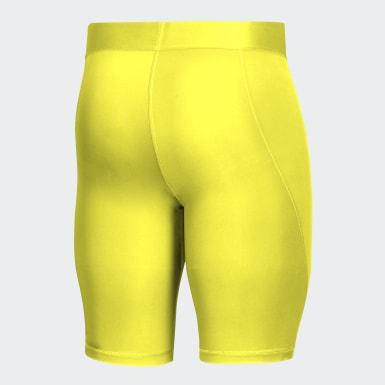 Calzas cortas Alphaskin Sport Amarillo Hombre Fútbol
