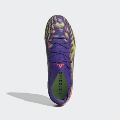 Bota de fútbol Nemeziz .1 césped natural seco Violeta Niño Fútbol