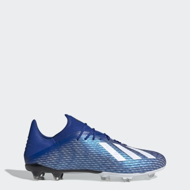 Botines de fútbol X 19.2 césped natural seco Azul Hombre Fútbol