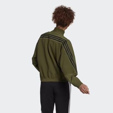 Women's Athletics Green adidas Sportswear Aeroknit Track Top