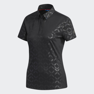 Women Golf Black Polo Shirt