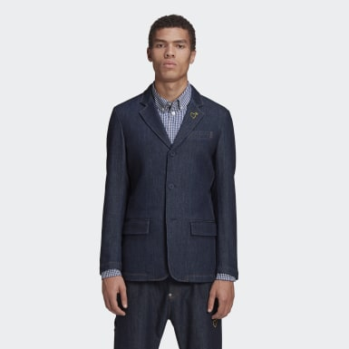 Männer Originals HM Denim Blazer Blau