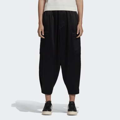 Y-3 CH3 Tech Silk Cargo Pants Nero Donna Y-3