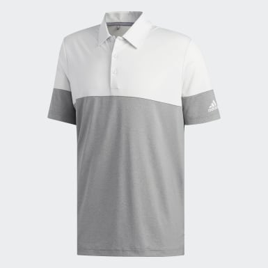 Men Golf Grey Ultimate365 Heathered Blocked Polo Shirt