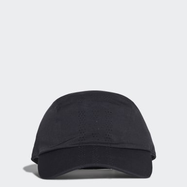 Tennis Black Perforated Runner Cap