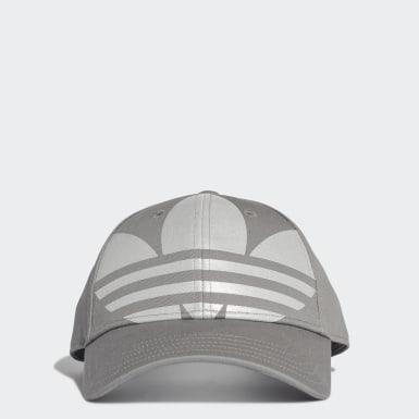 Cappellino Adicolor Trefoil Baseball Grigio Originals