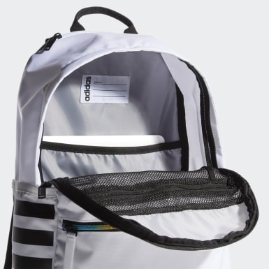Essentials White Classic 3-Stripes 3 Backpack
