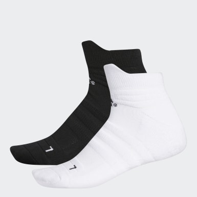 Men Golf White Grip Low-Cut Ankle Socks 2 Pairs