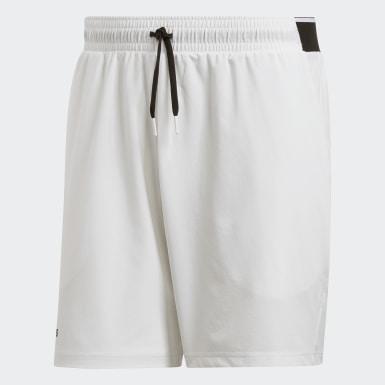 Men Padel Tennis White Club Shorts 7-Inch