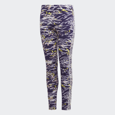 Girls Originals Purple Allover Print Leggings