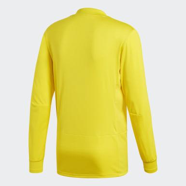 Camiseta manga larga entrenamiento Condivo 18 Player Focus Amarillo Hombre Fútbol