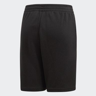Pantaloncini Essentials Logo Nero Ragazzo Training