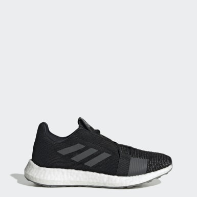 Kvinder Løb Sort Senseboost GO sko