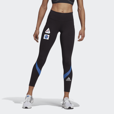 Women Running Black Own The Run Space Race 7/8 Run Leggings