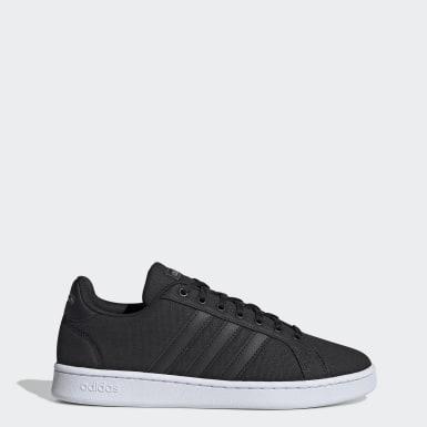 Men Sport Inspired Black Grand Court Shoes