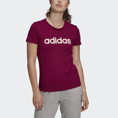 Polera Essentials Linear Burgundy Mujer Training