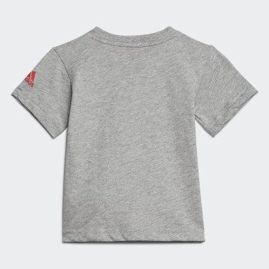 Děti Trénink šedá Tričko Logo