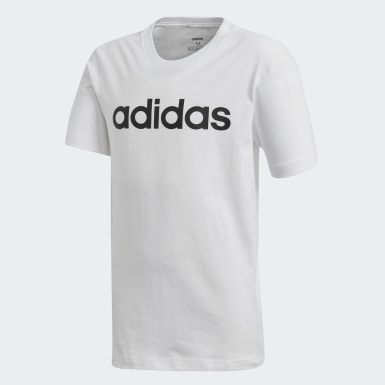 Αγόρια Athletics Λευκό Essentials Linear Logo Tee