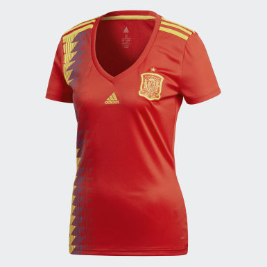 Dames Voetbal Rood Spanje Thuisshirt