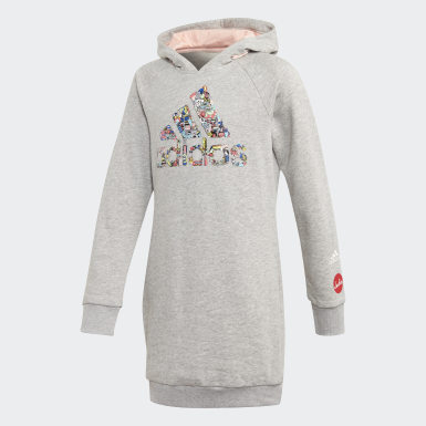 Kids Lifestyle Grey Cleofus Long Hoodie