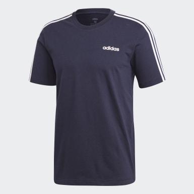 Männer Athletics Essentials 3-Streifen T-Shirt Blau