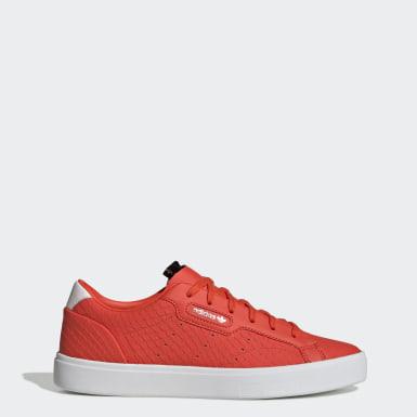 ผู้หญิง Originals สีส้ม รองเท้า adidas Sleek