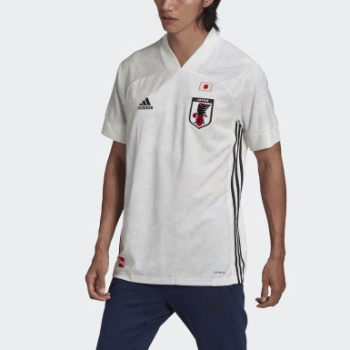 Men Football White Japan Away Jersey