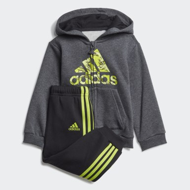Kinderen Training grijs Fleece Hooded Joggingpak