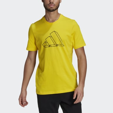 T-shirt adidas Sportswear Graphic Giallo Uomo Athletics